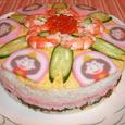 雛寿司デコレーションケーキ風